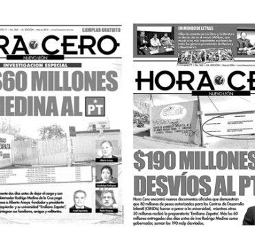 Hora Cero exhibe a PT;  PGR ya los investiga