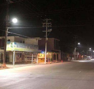 Rehabilitación de luminarias en Nuevo Progreso