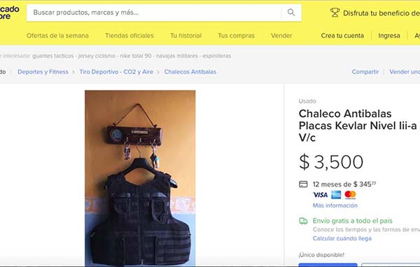 Venden ropa blindada hasta para los niños - Hora Cero Tamaulipas 04e2a8f65a207